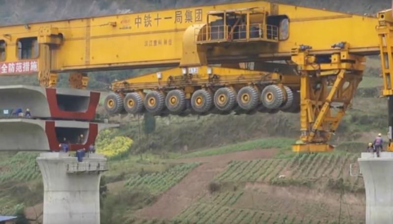 Сборка моста в Китае